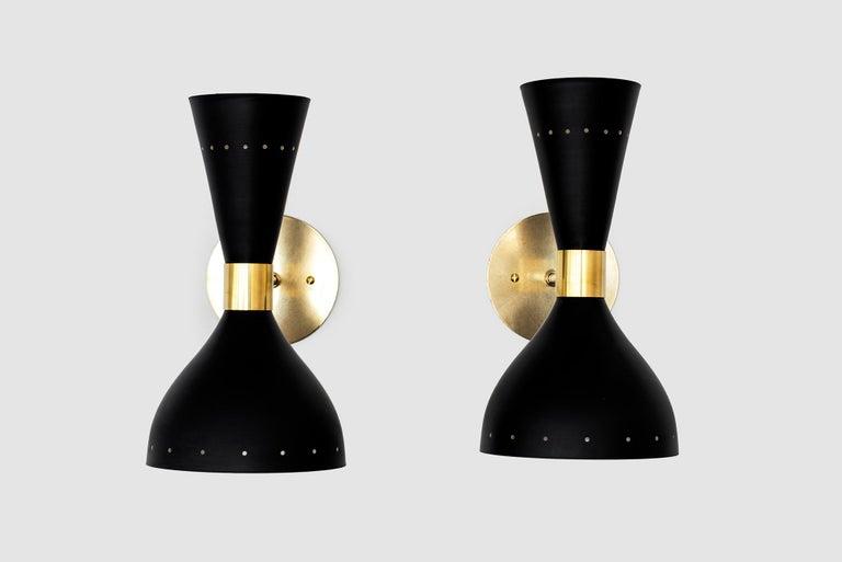 Black Stilnovo Style Sconces For Sale 3
