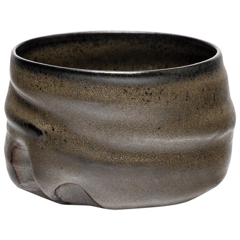 Black Stoneware Ceramic Bowl by Lukas Richarz French Handmade Pottery