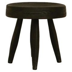 Milking Black Stool Made with Reclaimed Wood