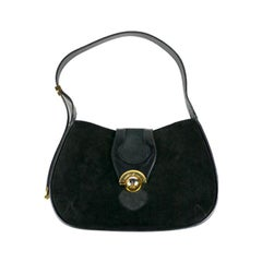 Black Suede and Calf Hobo