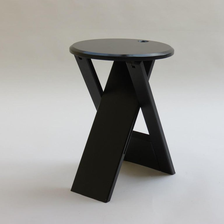 English Black Suzy Folding Stool by Adrian Reed for Princes Design Works