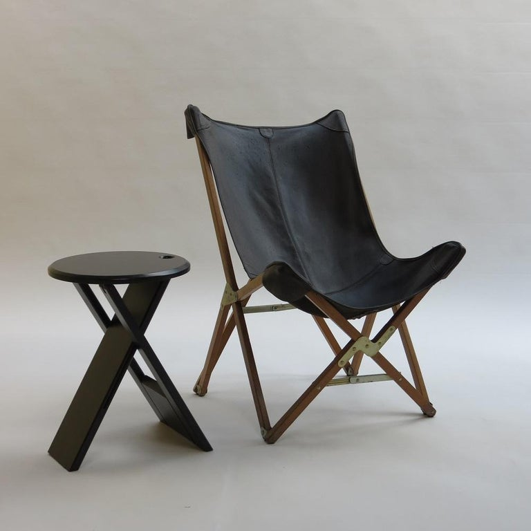 Black Suzy Folding Stool by Adrian Reed for Princes Design Works In Good Condition In Stow on the Wold, GB