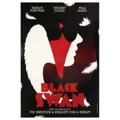 """Black Swan"" 2010 British One Sheet Film Poster"