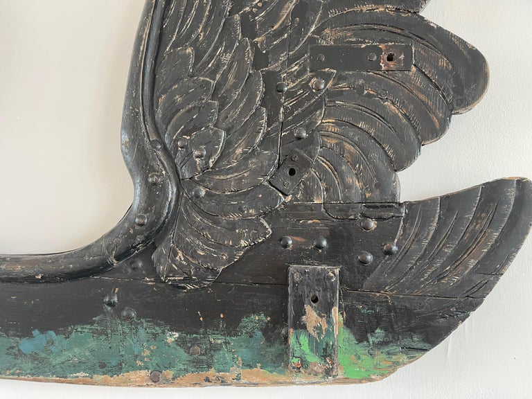 Black Swan Carved Wood Carousel For Sale 6