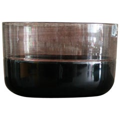 Black Tapio Wirkkala Venini Italian Glass Bowl