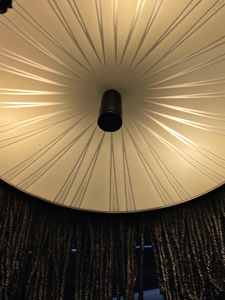 Black Tar Ceiling Lamp or Sculpture, 21st Century by Mattia Biagi In New Condition For Sale In Culver City, CA