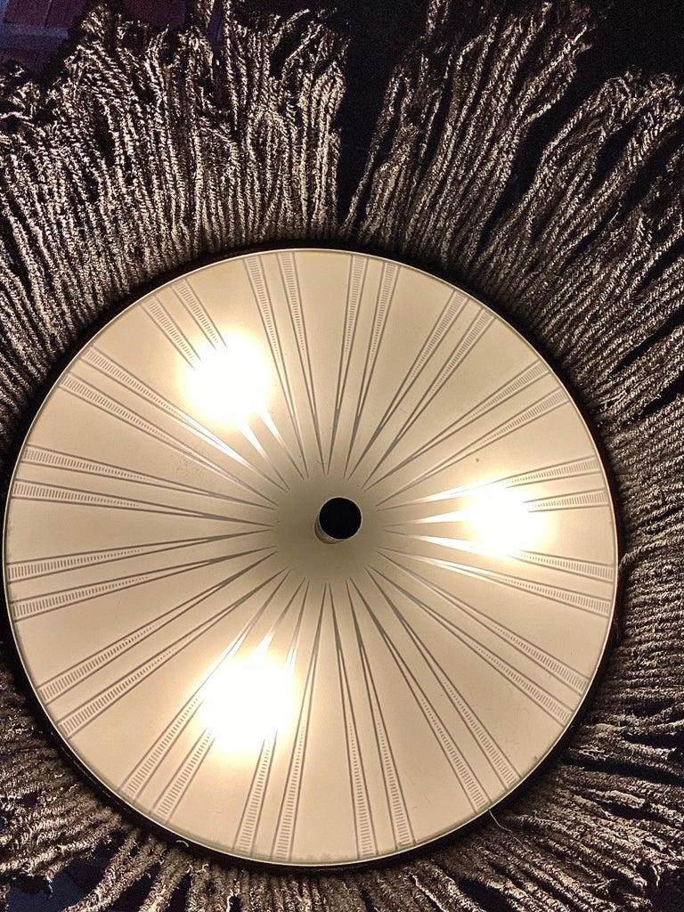 Black Tar Ceiling Lamp or Sculpture, 21st Century by Mattia Biagi For Sale 1