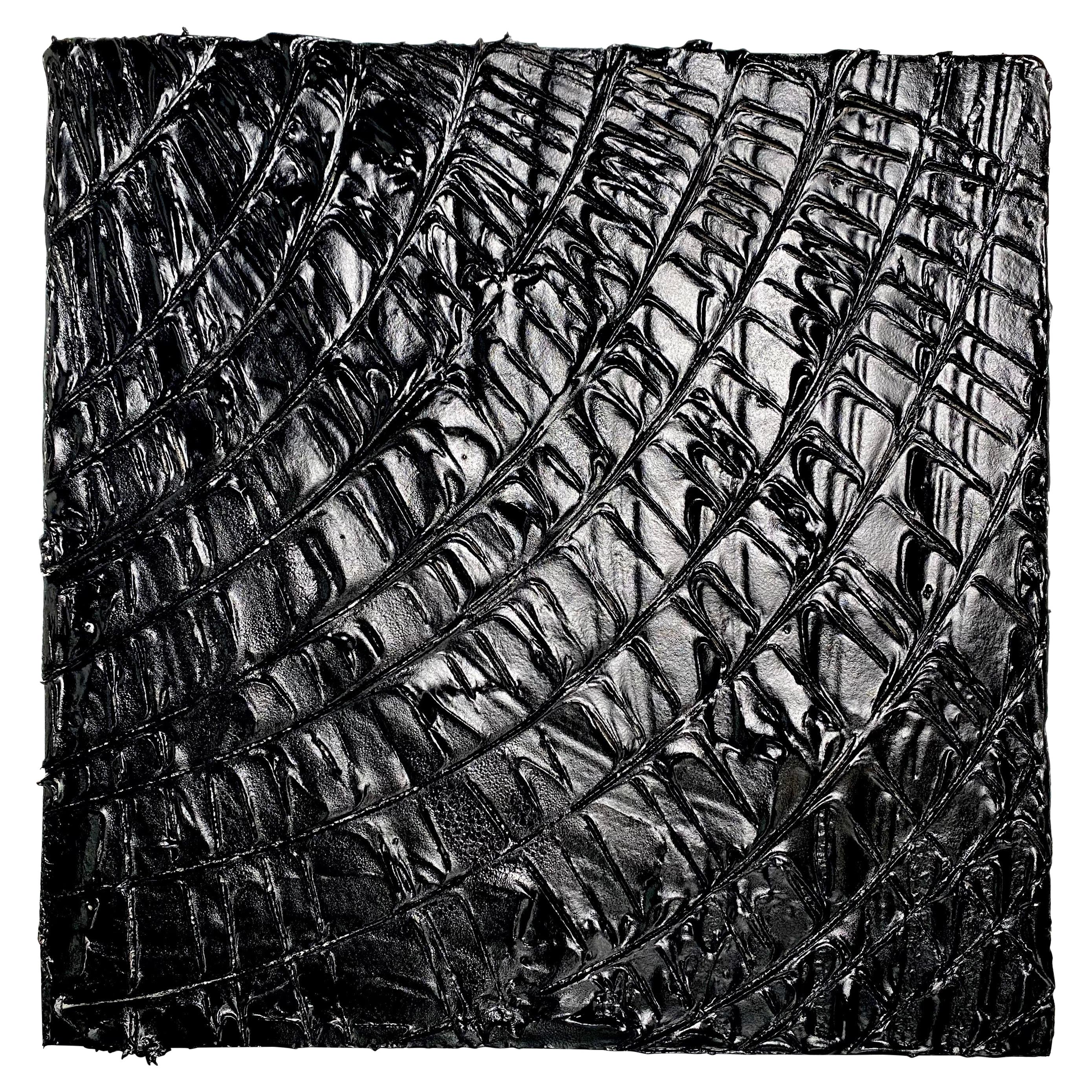 Black Tar Painting, 21st Century by Mattia Biagi