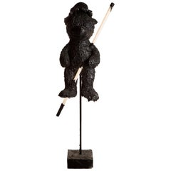 Black TAR Teddy Bear Floor Lamp or Sculpture, 21st Century by Mattia Biagi