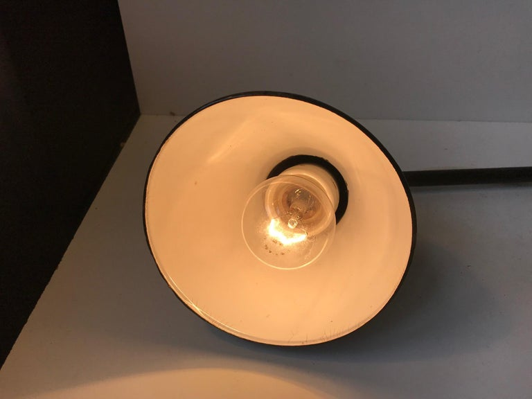 Enamel Black Telescopic Bauhaus Wall Light, Germany, 1930s For Sale