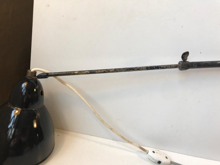 Black Telescopic Bauhaus Wall Light, Germany, 1930s For Sale 4