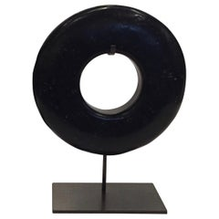 Black Thick Ring Sculpture, Contemporary, China