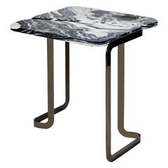 Black Tigris Side Table Black by Marble Balloon