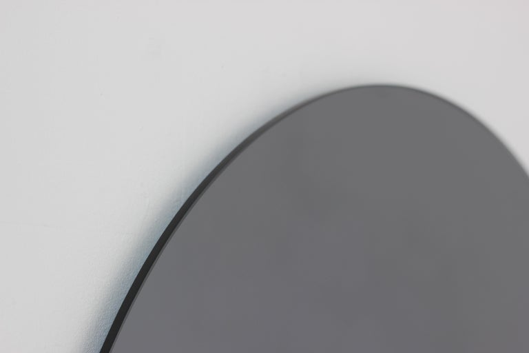 Modern Black Colour Tinted Orbis Circular Shaped Mirror