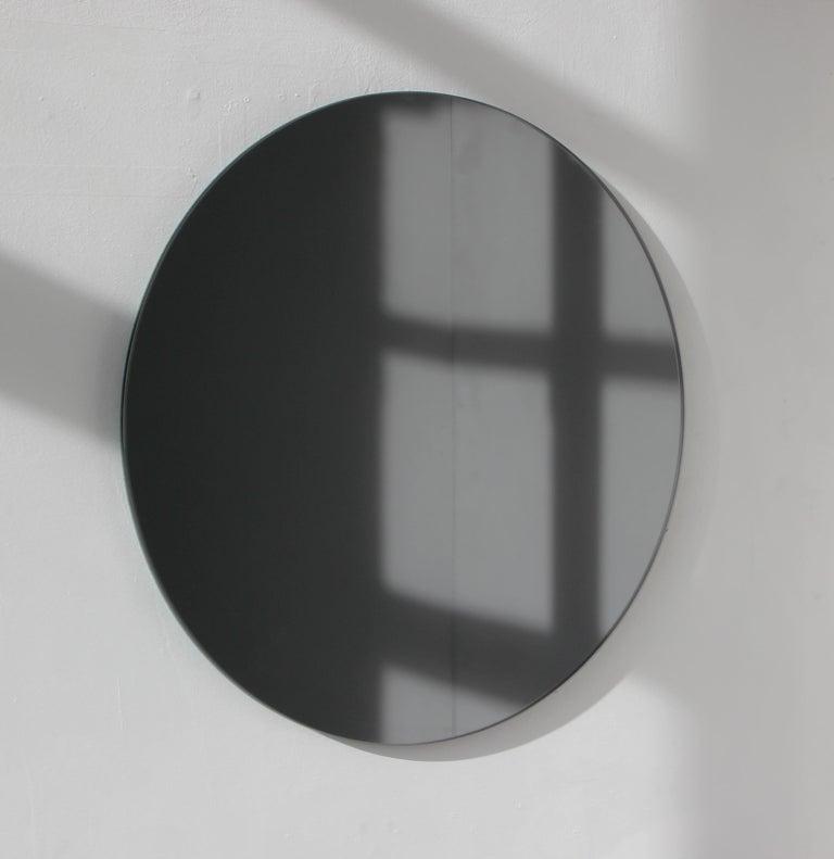Modern Black Colour Tinted Orbis Circular Shaped Mirror