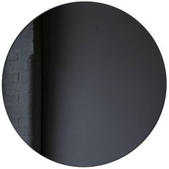 Orbis™ Black Tinted Round Frameless Contemporary Mirror - Regular