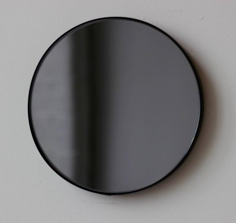 Orbis Round Black Tinted Mirror With Black Frame Extra