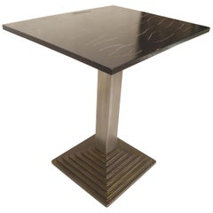 Black Top Metal Table