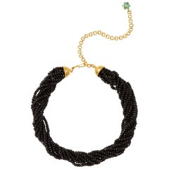 Black Tourmaline Emerald Choker