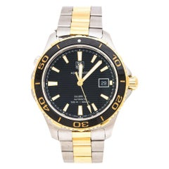 Black Two-Tone Stainless Steel Aquaracer WAK2122 Men's Wristwatch 41 mm