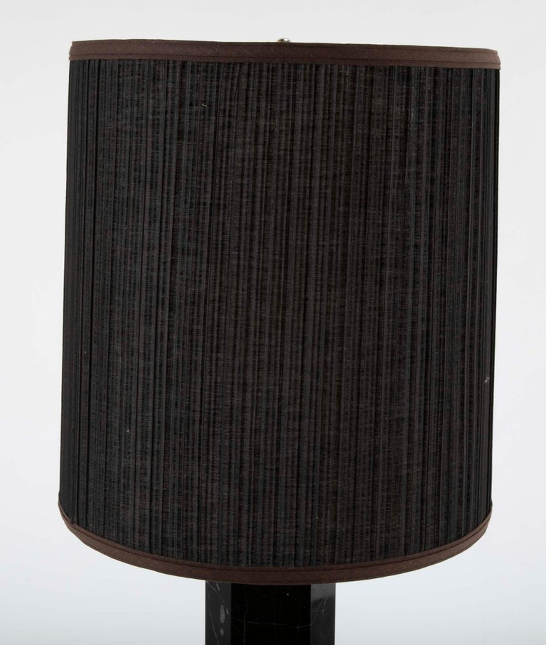 20th Century Black Veined Marble Lamp Attributed to T.H. Robsjohn-Gibbings For Sale