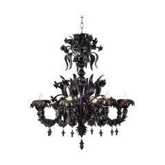 Black Venetian Glass Chandelier Venetian Style