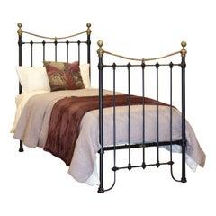 Black Victorian Single Antique Bed MS49