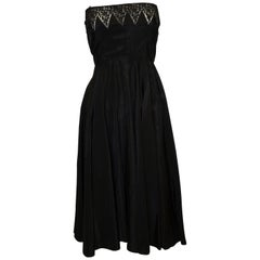 Black Vintage 1950s Cocktail Dress