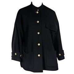 Black Vintage Chanel Boucle Jacket