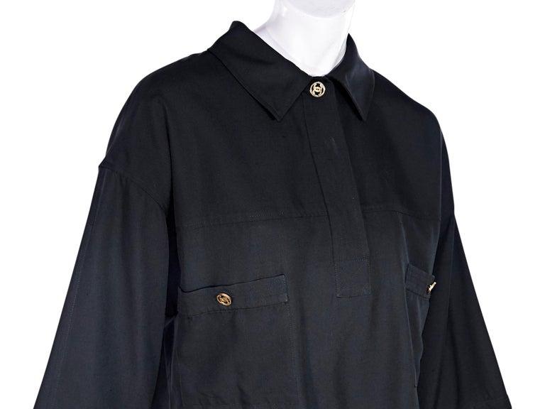 Women's Chanel Boutique Black Linen Crop Top