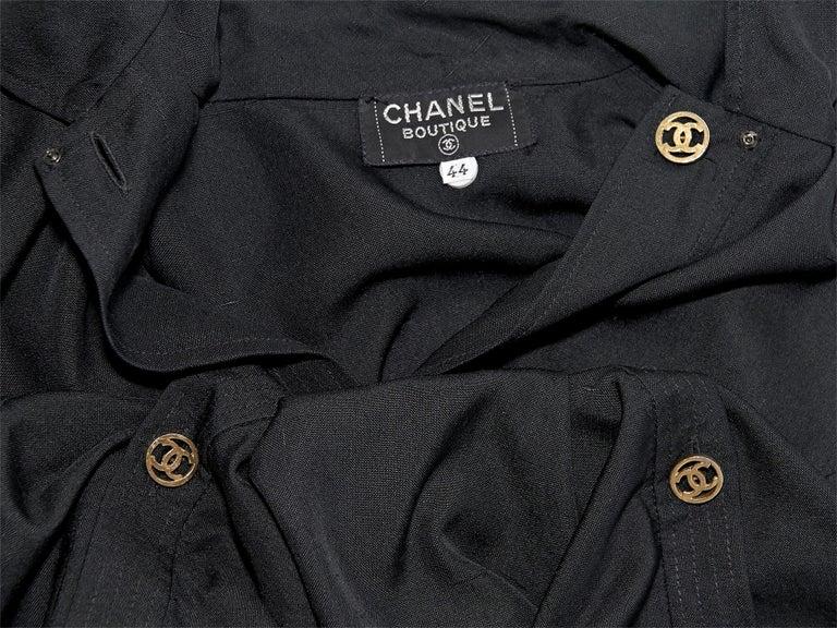 Chanel Boutique Black Linen Crop Top 1