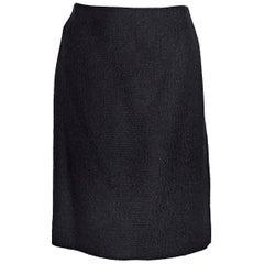 Chanel Black Creations Bouclé Mini Skirt