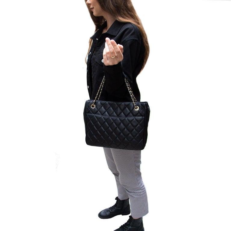 Women's or Men's Black Vintage Chanel Handbag For Sale