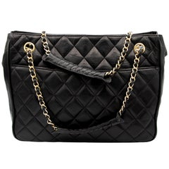 Black Vintage Chanel Handbag