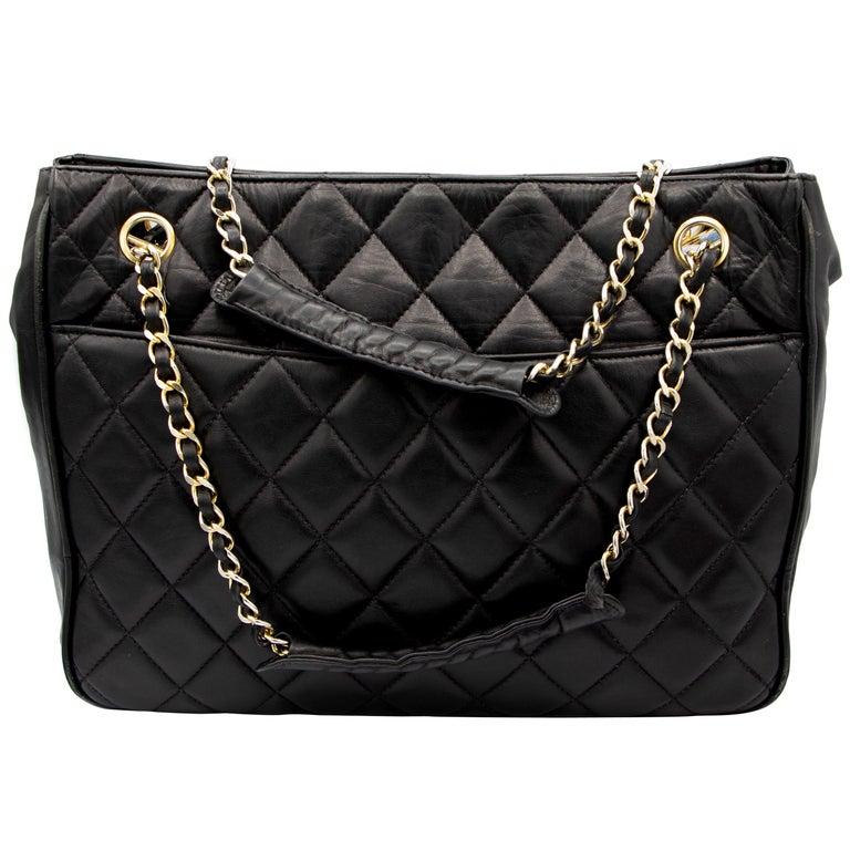 Black Vintage Chanel Handbag For Sale