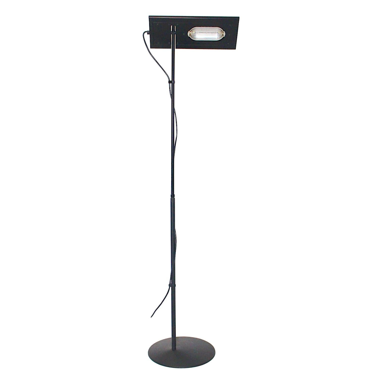 Black Vintage Floor Lamp Duna Terra Marco Colombo & Mario Barbaglia PAF Studio