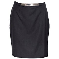 Gianni Versace Couture Black Wool Mini Skirt