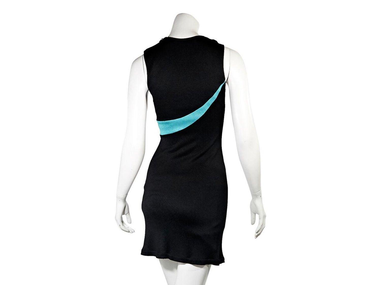 cd6705efc9d Black Vintage Gianni Versace Stretch-Knit Mini Dress For Sale at 1stdibs