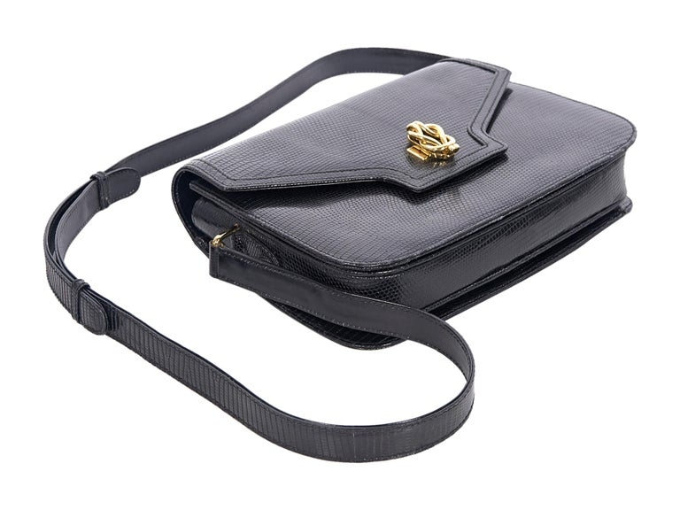 Gucci Black Snakeskin Shoulder Bag In Good Condition For Sale In New York, NY