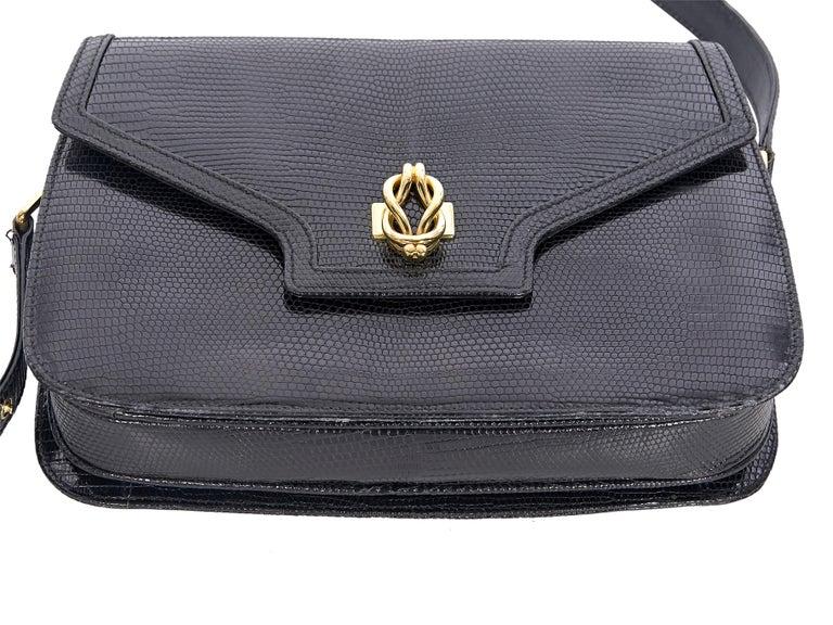 Women's Gucci Black Snakeskin Shoulder Bag For Sale