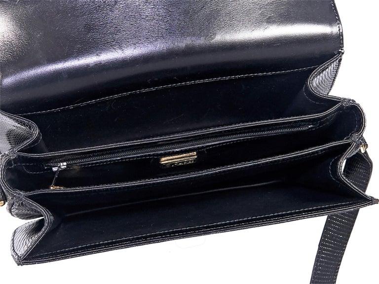 Gucci Black Snakeskin Shoulder Bag For Sale 1