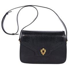 Gucci Black Snakeskin Shoulder Bag