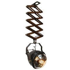 Black Vintage Industrial Metal Scissor Light
