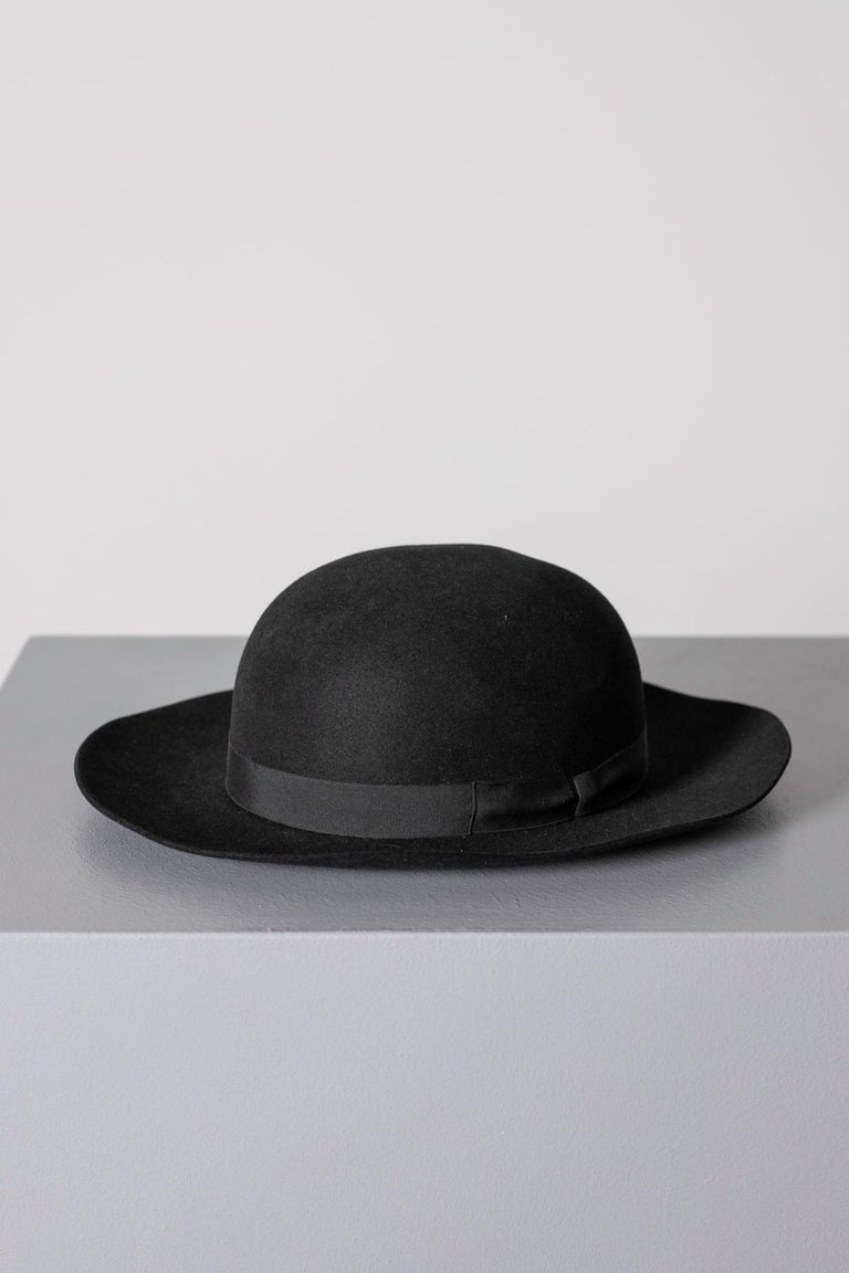 Black Vintage Italian Women's Hat by Barbisio , 1950s In Good Condition For Sale In milano, IT