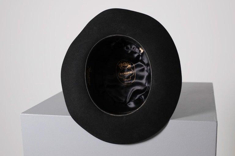 Black Vintage Italian Women's Hat by Barbisio , 1950s For Sale 3