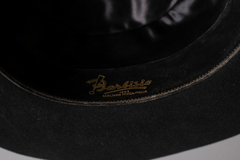 Black Vintage Italian Women's Hat by Barbisio , 1950s For Sale 4
