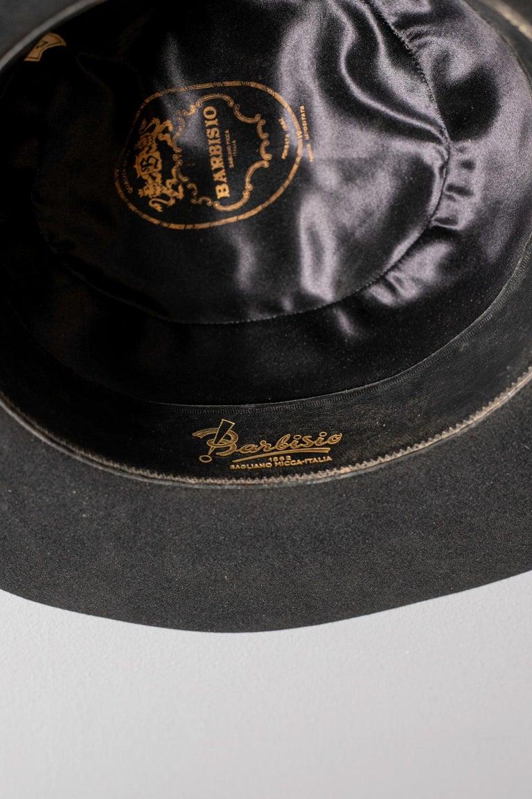 Black Vintage Italian Women's Hat by Barbisio , 1950s For Sale 5