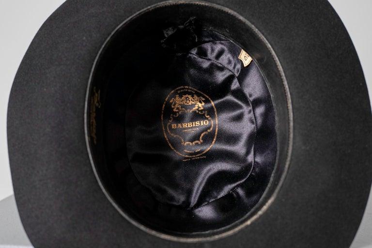 Black Vintage Italian Women's Hat by Barbisio , 1950s For Sale 6