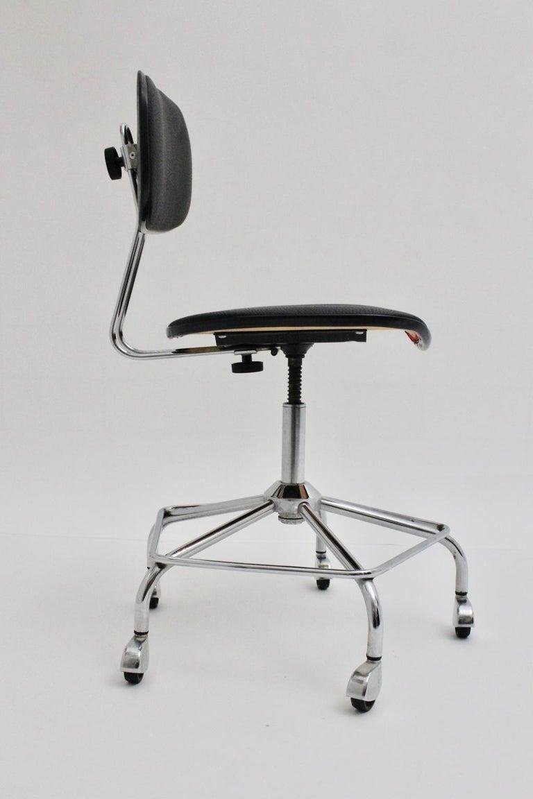 Astounding Black Vintage Mid Century Modern Egon Eiermann Swiveling Unemploymentrelief Wooden Chair Designs For Living Room Unemploymentrelieforg