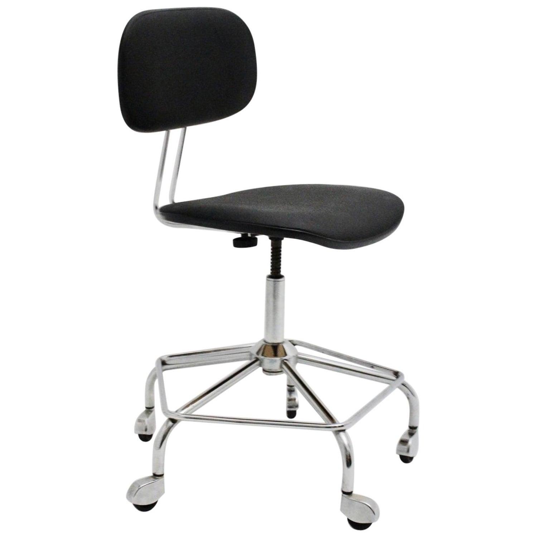 Outstanding Black Vintage Mid Century Modern Egon Eiermann Swiveling Unemploymentrelief Wooden Chair Designs For Living Room Unemploymentrelieforg